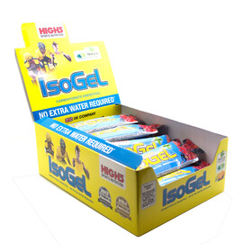 High5 IsoGel Plus - Nutrition sport - Berry 25 x 60ml jaune/bleu
